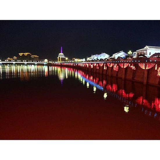 Meizhou Nightriverview Bridgeview Reflection like4like igers guangzhouchina meizhou