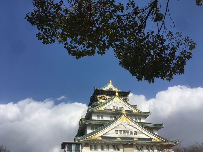 Osaka Castle Architecture Building Exterior Built Structure Cloud - Sky Day Low Angle View Nature No People Outdoors Place Of Worship Religion Sky Spirituality Travel Destinations Tree