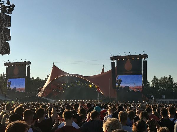 Large Group Of People Crowd Stage - Performance Space Music Festival Real People Music Enjoyment Event Arts Culture And Entertainment Popular Music Concert Performance Audience Women Togetherness Men Watching People Leisure Activity Lifestyles Spectator Roskilde Festival Festival