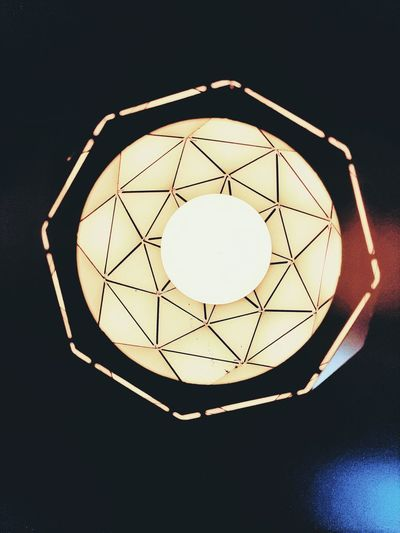 Directly below shot of illuminated light bulb