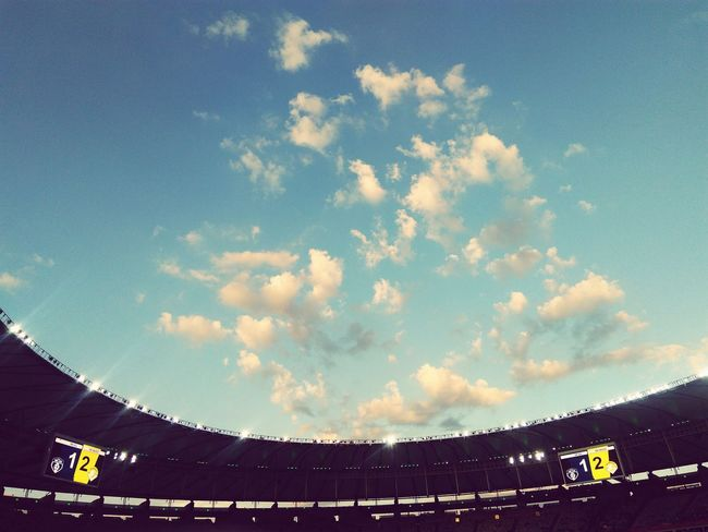 Sport Stadium Cloud - Sky Sky Outdoors No People Day Maracanã JOGODASESTRELAS ForçaChape Chape Sports Event