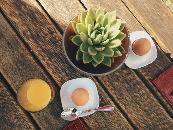 Breakfast Directly Above Drink Egg Food Food And Drink Foodie Freshness Healthy Eating High Angle View Holiday Indoors  Interior Views Leaf Morning Orange Plant Showcase March Spoon Still Life Succulents Sunshine Table Weekend My Favorite Breakfast Moment EyeEm X My Muesli - Breakfast Moment