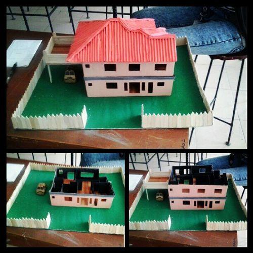 Our miniature house :) 2ndSem Drawing2 Industrialengineering Engineering Finals UPHSD Godbless
