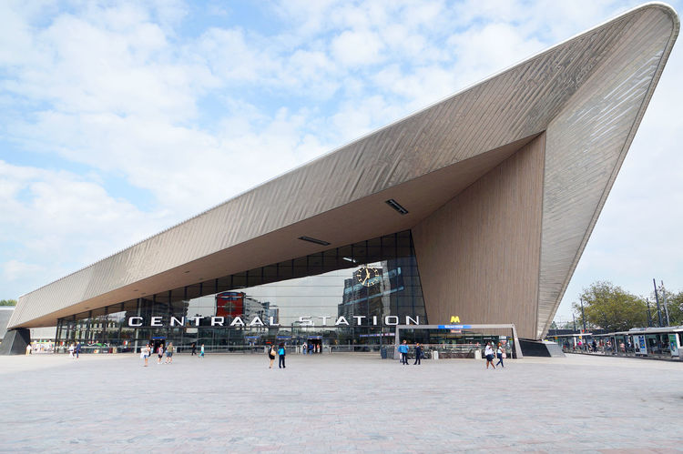 Architecture Building Exterior Centraal Station City Europe Holland Incidental People Modern Netherlands Rotterdam Rotterdam Centraal  Train Station Travel