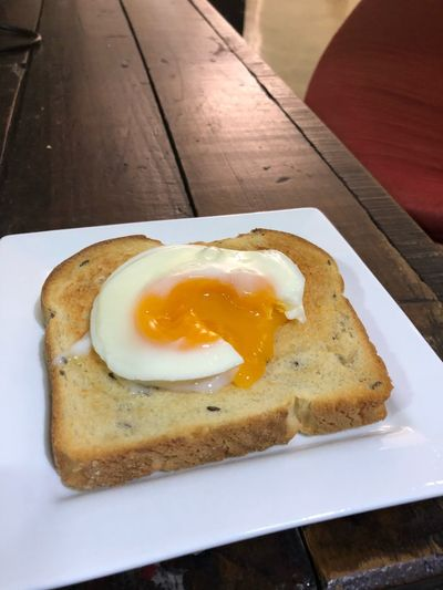 Breakfast Egg Plate Food Food And Drink Fried Egg Indoors  Freshness Egg Yolk Toasted Bread Healthy Eating Bread No People Sunny Side Up Ready-to-eat Table Serving Size Close-up Sliced Bread Day