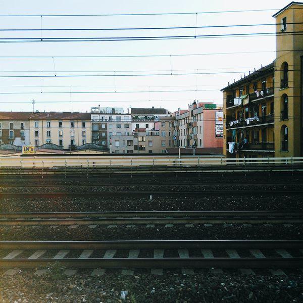 Railway Traveling Train Train Window Train Tracks Italy