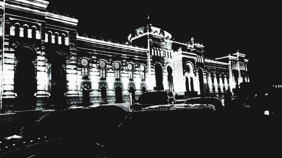 Welcome To Black Government City Politics And Government Night Architecture Travel Destinations Illuminated Outdoors No People Sky New Eyeme New Here Azerbaijan Baku Railway Station EyeEmNewHere