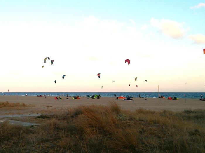 Kitesurf in Castelldefels. Aroundtheworld Taking Photos belive the Scent of Capturing Freedom Nexus5photography