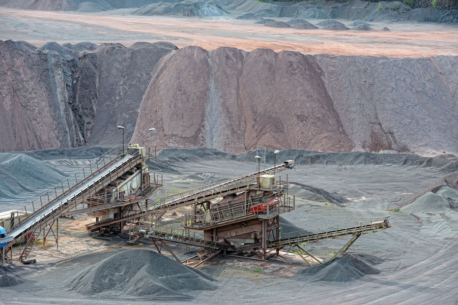 stone crusher in surface mine. mining industry Rock Rock Formation Engineering Outdoors Stone Construction Steinbruch Mining Industry Quarry Mining Mine Transportation Quarry Rock Conveyor  Conveyor Belt Steinbrecher Stone Crusher Conveyorbelts Built Structure Building Exterior