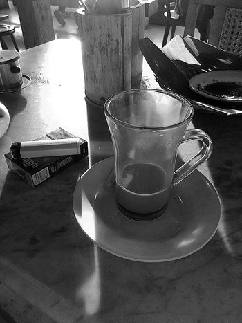 Lonely & Tired Black And White Coffee