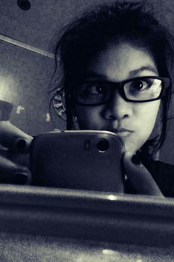 Nerd look muna daw sabay duling. Hehe :3 Black And White Portrait Nerdy Muna Selfie ✌ Eyeem Me :)