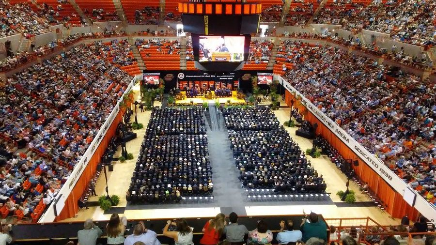 future untold Graduation 2018 Oklahoma State University  Focus On The Story Crowd High Angle View Architecture