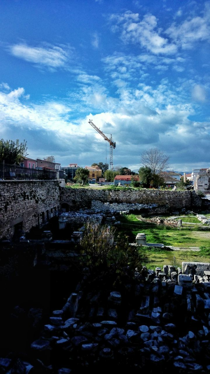 Ruins Of Historic Buildings Against Sky