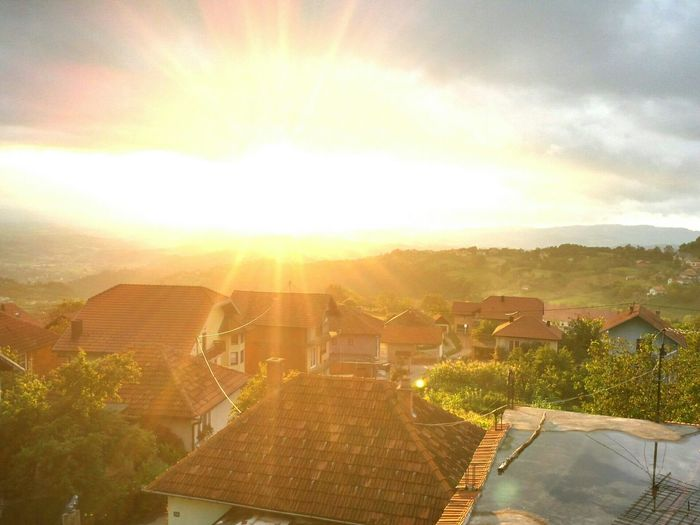 Teočak Bosnia Herzegovina Beautiful Sunset Beauty Of Sun Explosion