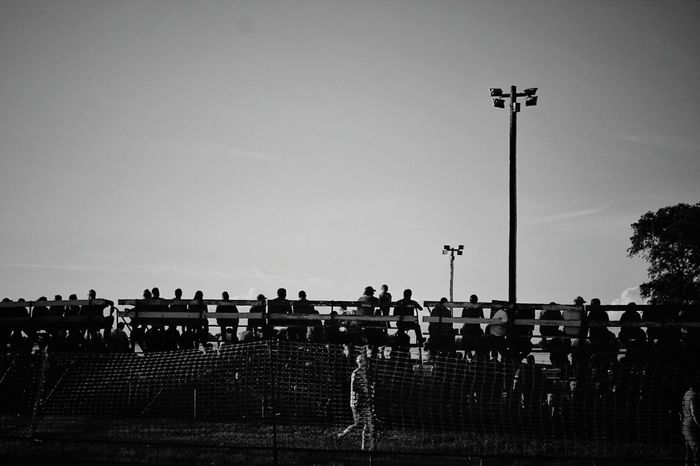 Grandstands Portrait Of America Monochrome Sillhouette Small Town USA MidWest B&w Photography A Day In The Life Taking Pictures People Watching