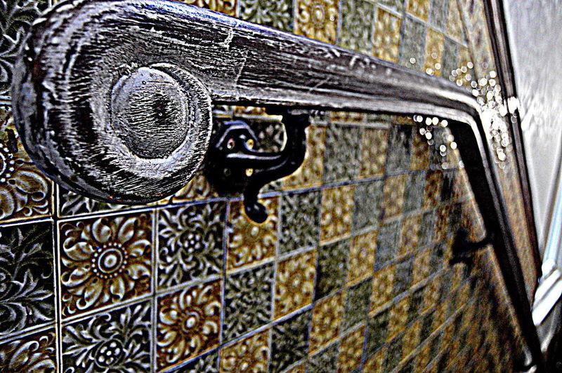 Ceramic Tiles Close-up Day Door Handrail Metal Metal No People Outdoors Pattern The Week On EyeEm