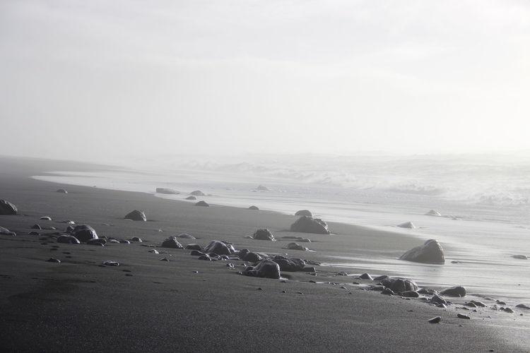 Heaven Beach Iceland Amazing View Heaven Black Sand Black Stones Heaven Beach Neverending
