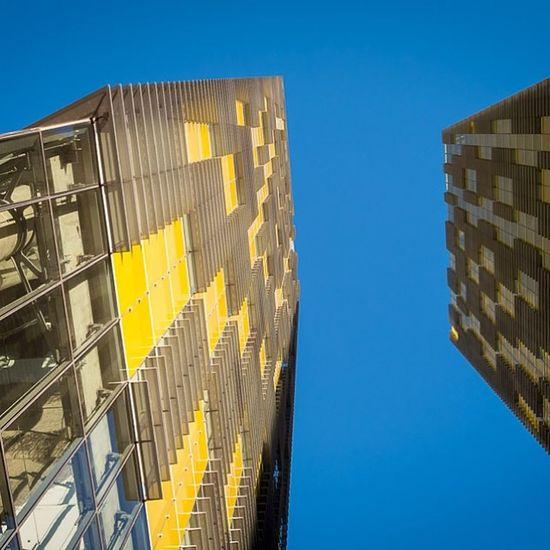 Two Yellow Towers Vegas  Lasvegas Citycenter Veertowers architecture latergram