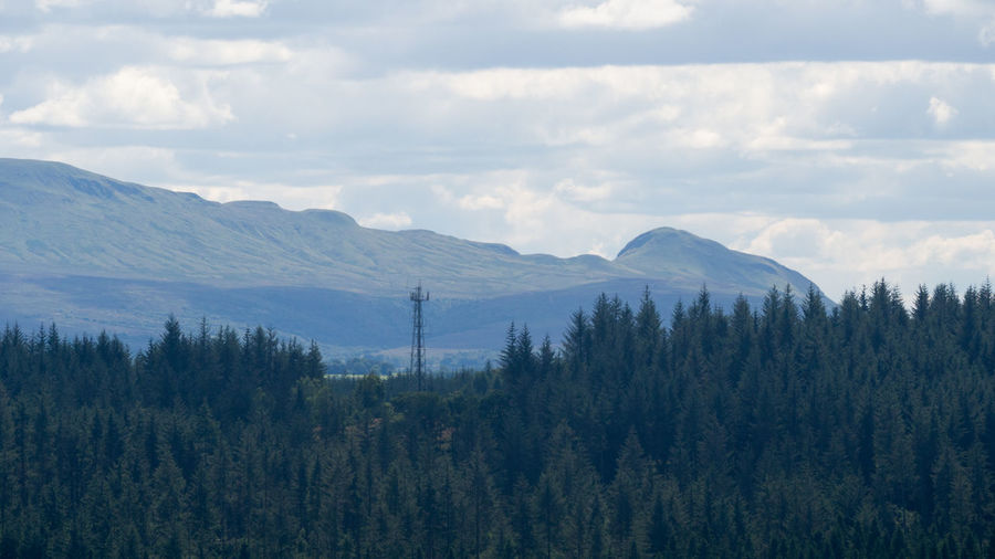 Scenic Views from The Lodge, Forest Visitor Centre, Duke's Pass, Aberfoyle, Stirling FK8 3SX Queen Elizabeth Forest Park Scotland Aberfoyle Beauty In Nature Day Go Ape Landscape Mountain Nature No People Outdoors Sky