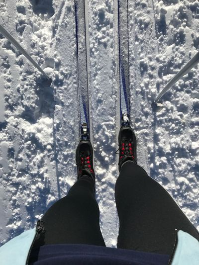 Winter Human Body Part One Person Outdoors Nature snow ski