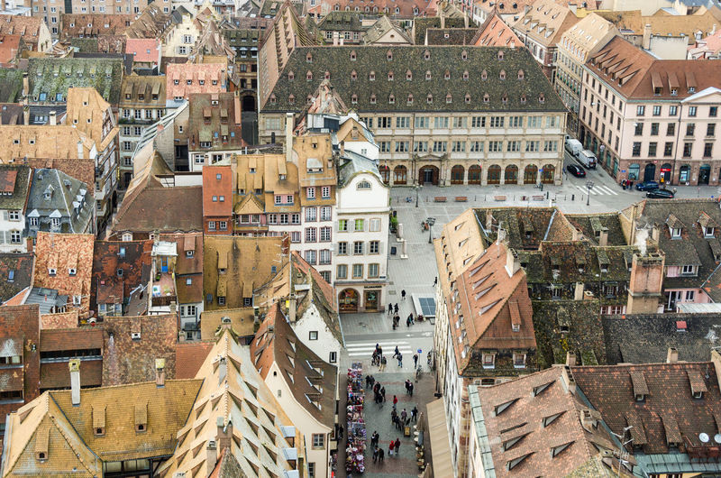 Aerial View Architecture Building Building Exterior Built Structure City City Life Cityscape Exterior From Above  From Above World Looks Smaller From My Point Of View Human Settlement Leading Lines Outdoors Residential Structure Strasbourg/France Strasbourg♥ Tiny Houses Top Perspective Rooftop Scenery Rooftop View  EyeEm x WhiteWall: Architecture Tiny World House The Architect - 2016 EyeEm Awards Adapted To The City