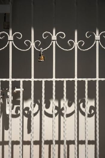 Iron Gate Abstract Close-up Day Hanging Light And Shadow Metal No People Outdoors Security