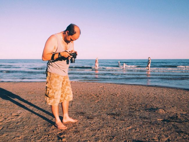 He stood there for an hour checking his pics Meta Summer Vibes Beach People