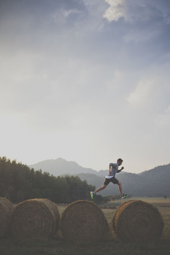 jump Beauty In Nature Cloud Cloud - Sky Day Distant Footpath Hay In Front Of Jump Mountain Mountain Range Nature Non-urban Scene Outdoors Remote Scenics Sky Solitude Tourism Tranquil Scene Tranquility Vacations