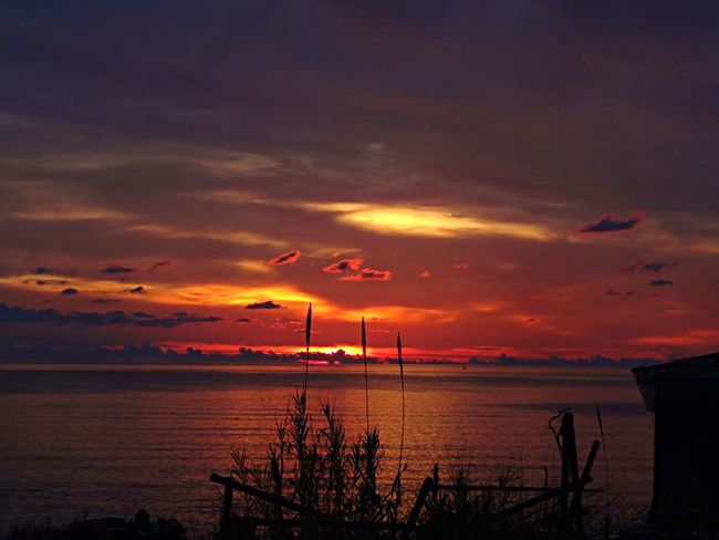 Greece Methoni Sky Sunset Sea Beauty In Nature Orange Color Horizon Idyllic Tranquility