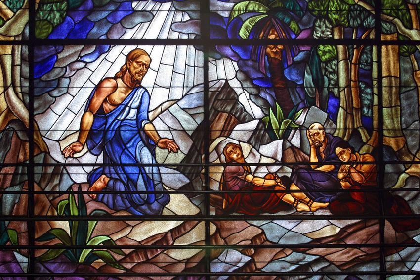 Sermon on the Mount Window Abbey Art Belief Blessed  Catholic Christianity Church Convent Croatia Faith Holy Mount Pilgrimage Pray Religion Sacred Saint Serenity Sermon Spiritual Spirituality Stained Glass Windowpane Worship