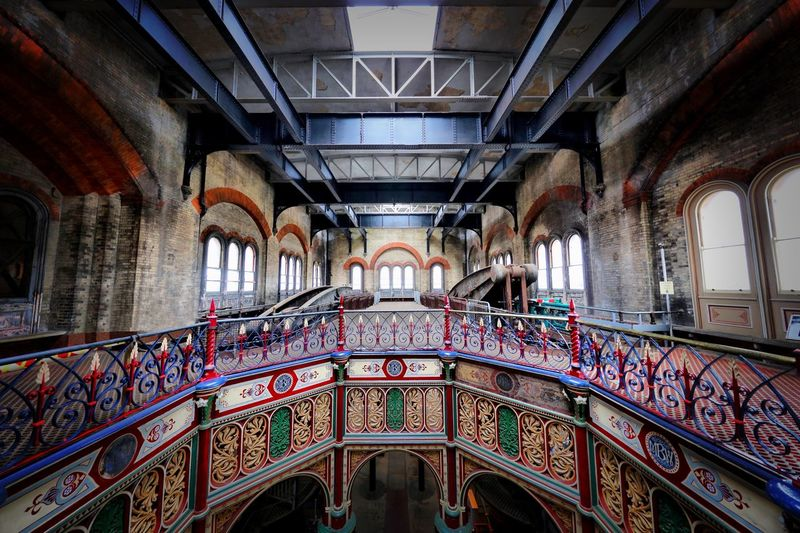 Crossness Pumping Station Architecture Built Structure Indoors  Arch Day No People Ceiling