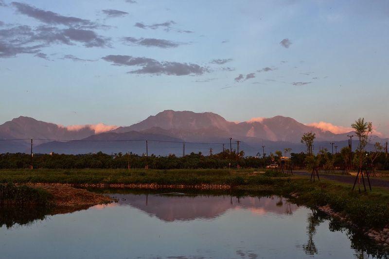 Mountain Reflection Beauty In Nature Mountain Range Sunset Landscape
