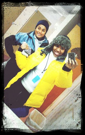 Me Nd My Bff Ready For Skiing:)