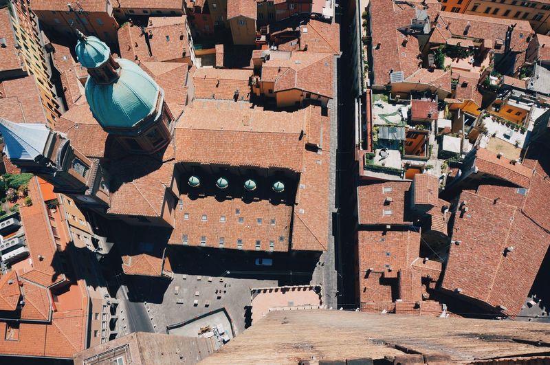 High angle view of santi bartolomeo e gaetano and buildings in city