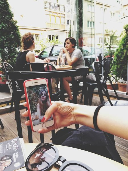 Wireless Technology Communication Technology Smart Phone Portable Information Device Mobile Phone Sitting Digital Tablet Togetherness Connection Photography Themes Day Portability Outdoors Photographing Young Women Young Adult Real People Photo Messaging Women Vscokosova Kosovo PRISHTINA Be. Ready.