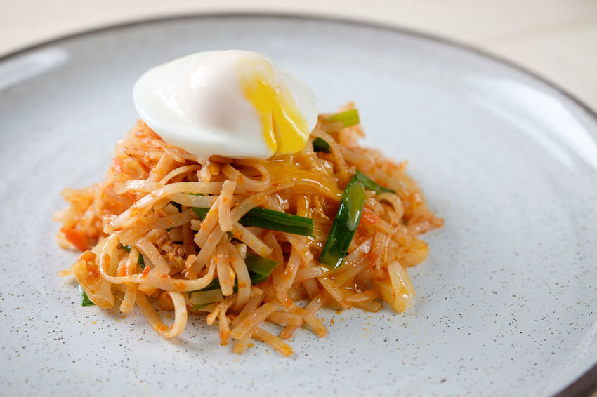 Egg Yolk Noodles Chinese Food Close-up Crockery Egg Food Food And Drink Freshness Fried Garnish Healthy Eating Indoors  Indulgence Italian Food Meal Mee Goreng Plate Ready-to-eat Serving Size Spaghetti Table Temptation