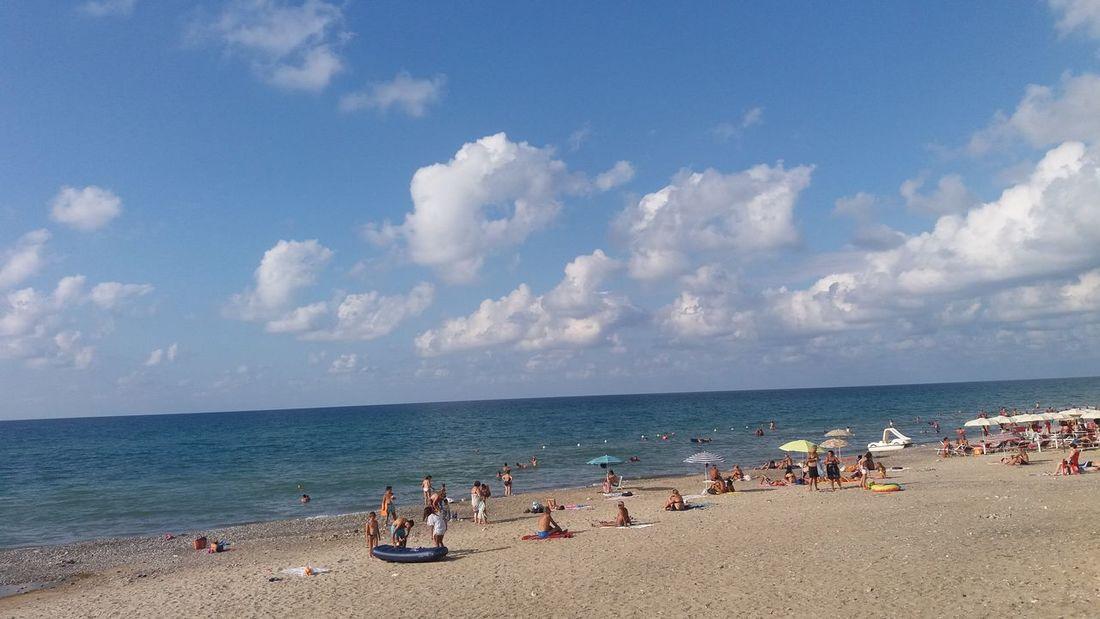 Italy Sicily Campofelice Di Roccella Spiaggia Beach Strand Sky Nuvole Wolken Meer Sea Mare Sabbia Summer Estate Ferie Urlaub No Filter