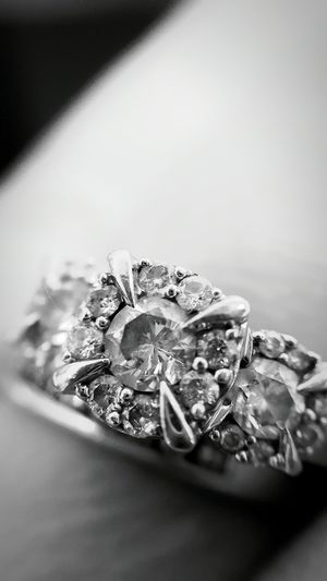 Diamond Diamonds Ring Rings Marriage  Engagement Beautiful Vintage Gemstones Jewelry Wedding Ring Wedding Rings Unique Ring Gorgeous Upclose  Upclose Blackandwhite Beauty In Ordinary Things Vintage Ring My Ring Diamond Ring Diamonds Are A Girl's Best Friend Beautiful Ring Wedding Wedding Photography