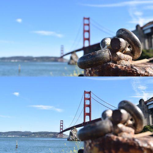 Golden. SF San Francisco GoldenGateBridge Bridge Water Blur TheCity City