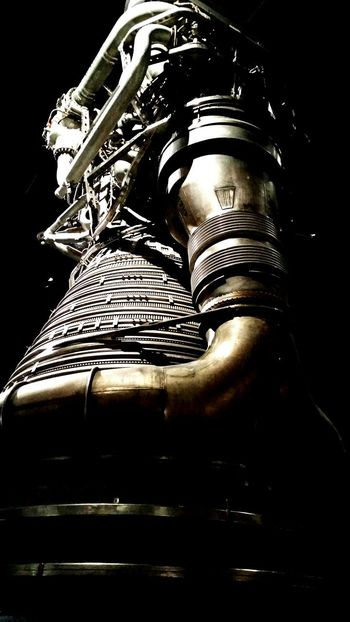 Saturn V engine High Angle View Spacecraft Abstract Museum Of Flight Moon Rocket Rocket Engine