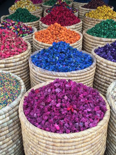Marrakesh Spices Of The World Spice Still Life Colorfull Market Arrangement Market Stall Basket Spices Morocco Dried Leaves Dried Flowers Dried Plant For Sale Freshness