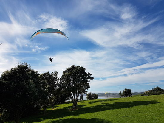 Cloud - Sky Beauty In Nature Parachute New Zealand Photography Raglan Nz Unedited EyeEmNewHere Flying Nature