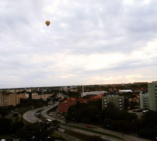 Hagalund Solna Stockholm Sweden Swedish Baloons Autumn Gray Clouds Sverige