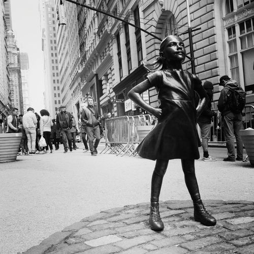 The Fearless Girl Fearless Girl Travel Destinations New York City City Life Manhattan Resist Neighborhood Map