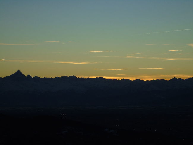 Le alpi viste da Superga. Italy Sunset_collection Superga (To) Alpi Beauty In Nature Day Landscape Mountain Nature No People Nofilter Outdoors Scenics Silhouette Sky Sunset Tranquil Scene Tranquility Tree