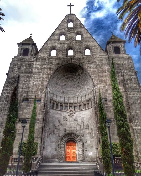 Architecture Building Exterior Travel Destinations History City Façade Cloud - Sky Built Structure Sky Outdoors No People Cultures Day Blooming EyeEmNewHere Yellow Springtime Blossom Freshness San Agustin's Church in Polanco, Mexico City. One of the most beautiful places in town.