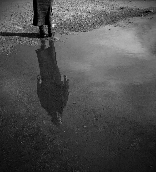 Ombre e riflessi Good Night Reflections Blackandwhite Photography Black & White That's Me! Sunday Afternoon Walk :)