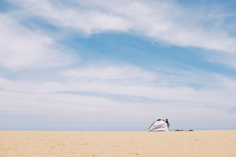 Sky Sand Beach Cloud - Sky Nature Sea Water Scenics Tranquility Outdoors Day Beauty In Nature Tranquil Scene Horizon Over Water Sand Dune No People EyeEm Ready