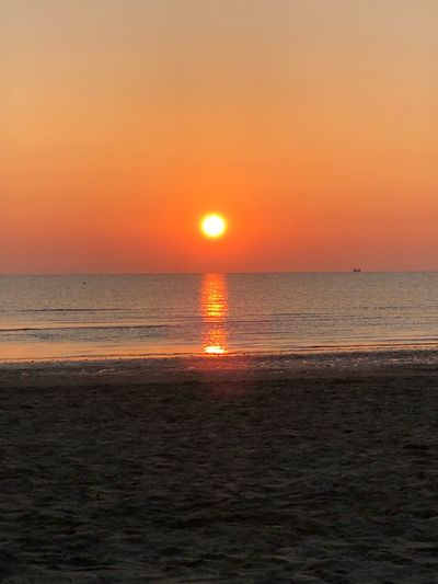 Alba Sunset Sky Sea Water Scenics - Nature Beauty In Nature Horizon Over Water Horizon Sun Beach Orange Color Tranquility Nature Land Reflection Sunlight Tranquil Scene No People Outdoors