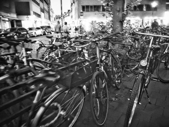 Münster City Bicycle Land Vehicle Car Street Close-up Architecture Building Exterior Bicycle Rack Bicycle Basket Cycling Parking Lot Residential Structure Vehicle Parking Sign Bicycle Lane Racing Bicycle